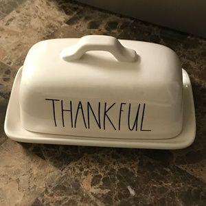 🎈🎈Rae Dunn THANKFUL Butter Dish Tray Brand New